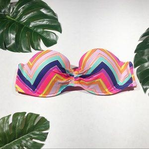 Victoria's Secret Chevron Multicolored Top 36B